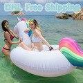 275 cm Unicornio inflable Gigante Piscina Tubo De Balsa Flotador Flotador De la Natación para Adultos Anillo de la Natación Del Cabrito Diversión Del Agua Del Verano Jardín piscina