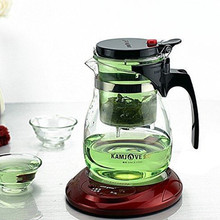 Kamjove Glass Kungfu Teaset Press AUTO OPEN Art tea Cup Teapot with