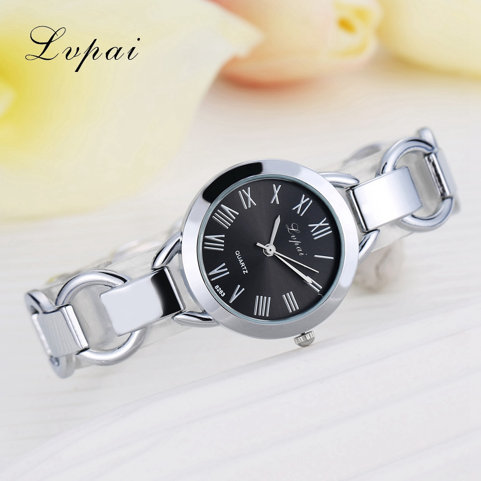for fashion round lvpai brand watch item beautiful crystal wrist s from gold quartz wristwatch bracelet on watches female in luxury nice classic ladies women