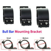 Adjustable Bull Bar Tube Bar Mounting Bracket Clamps Holder Kit For Off Road Offroad LED HID