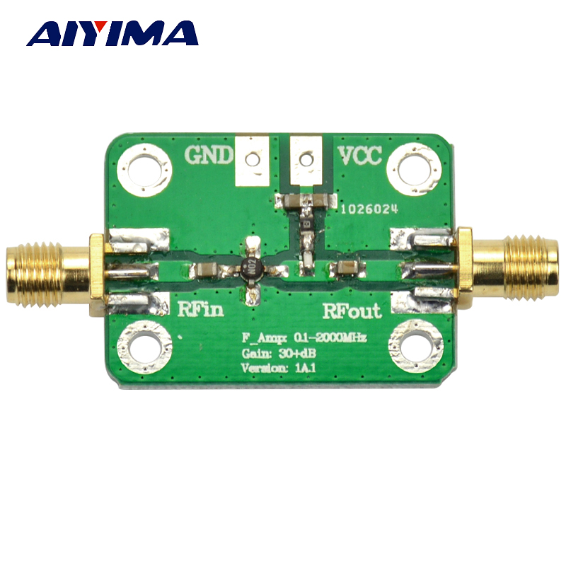 Aiyima 0.1-2000MHz Low Noise LNA Broadband RF Receiver Amplifier Signal Amplifier Module Gain 30dB тетрадь на скрепке printio animalswag ii collection fox
