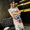 Long Charming Chinese Women's Dress Evening Dress Cheongsam Qipao Size S--XXL