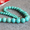 2015 New Beautiful 6-14mm Turkey Turquoise Jasper stripe DIY stones Necklace women beads 18inch Jewelry making design wholesale