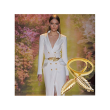 Бренд Marcas золотые серебряные эластичные ремни для женщин Кленовая защелка лепесток металлический цепной ремень на талию леди цинто bg-042