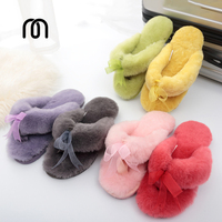 Millffy sheepskin slippers flip conditioned home wool slippers womens slippers indoor shoes