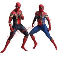 halloween costumes Iron Spiderman blue Costume Spandex Cosplay Spider Man Kids Adult Costumes Bodysuit Suit Jumpsuit