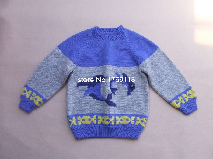 New Hand Knitted Wool Cardigan Sweater For Baby Boy 2