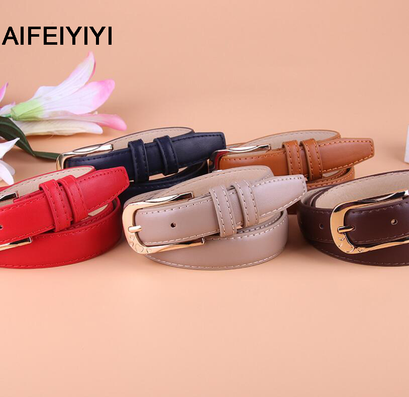 2018 ladies belt explosion models Korean fashion pu decorative wide belt high quality alloy pin buckle belt