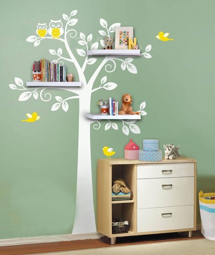Wall Shelf Tree, Nursery Wall Decals, Decorative Wall ... on Room Decor Stickers id=50412
