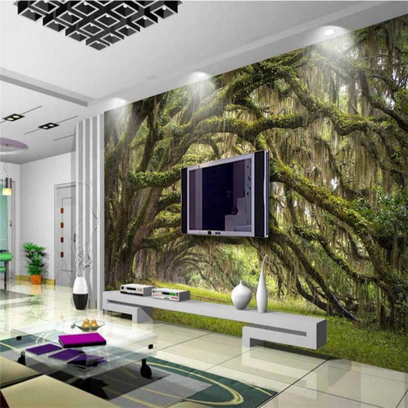 beibehang Custom 3D wallpaper forest in the path of high-definition natural scenery background wall living room decoration representing time in natural language – the dynamic interpretation of tense