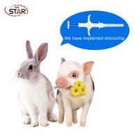 40pcs 2*12mm ISO FDX b RFID Transponder Syringe Veterinary Animal Id Tracking Pet ID Tags Cat Tags