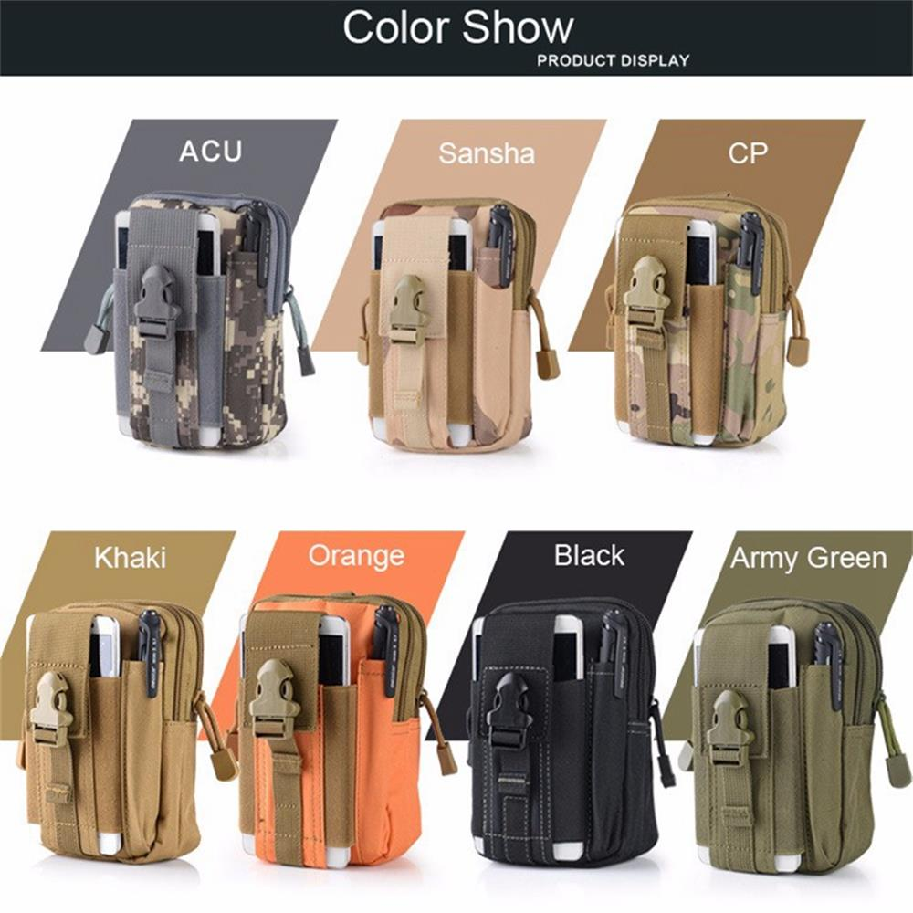 Multipurpose Tactical Cover Smartphone TAN Camo Holster EDC Security Pack Carry