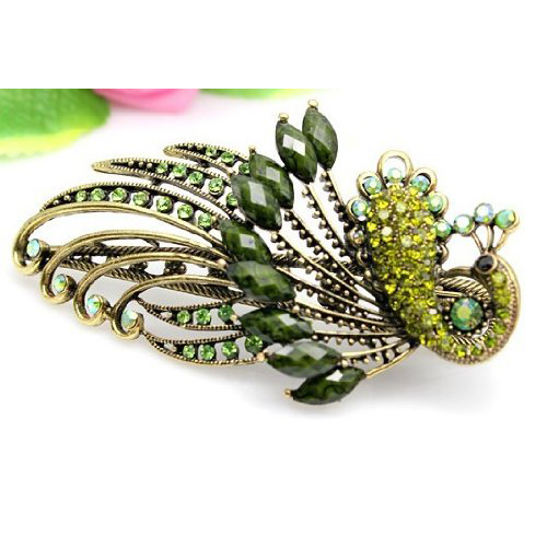 Best Sale Jewelry Crystal Peacock Hair Clips - for hair clip Beauty Tools