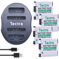 Tectra 4pcs NB 11L NB 11L Battery USB Dual Charger For Canon PowerShot A2300 IS A2600