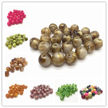 New 10pcs 14mm of Acrylic Beads Earrings Necklace Accessories Beads For Jewelry Making DIY Jewelry Findings a suit of graceful geometric beads necklace and earrings for women
