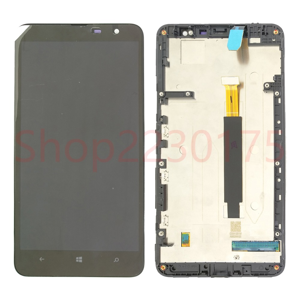 For <font><b>Nokia</b></font> Lumia <font><b>1320</b></font> RM-996 LCD Display Touch Screen Digitizer Assembly Frame Replacement <font><b>Parts</b></font> image