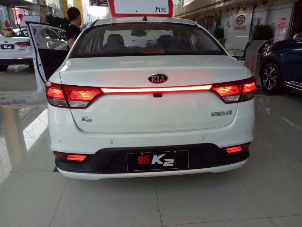 eOsuns led additional brake light , driving lamp, moving turn signal for kia k2 rio 2017 18, wireless switch control
