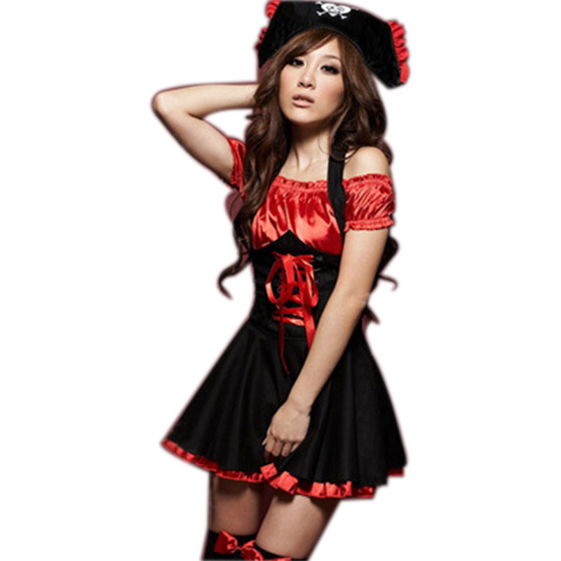 Sexy Pirates Cosplay Dress Jazz Dance Clothes Uniform Temptation Halloween Costumes For Women