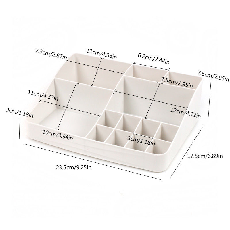 Image 5 - Plastic Cosmetic Drawer Makeup Organizer Makeup Storage Box Container Nail Casket Holder Desktop Sundry Storage Case-in Storage Boxes & Bins from Home & Garden