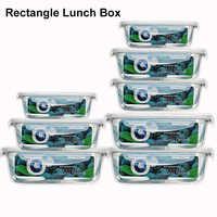 550 мл/830 мл/1700 мл стеклянный контейнер для готовки еды контейнер для завтрака коробка для хранения свежих продуктов кухонные герметичные кон...
