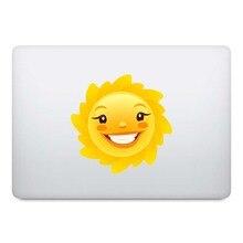 Смайлик солнце мультфильм наклейки для ноутбука Наклейка на MacBook Pro Air retina 11 12 13 14 15 дюймов Mac книга кожи частичный ноутбук стикер