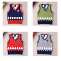 New Arrival Baby Boys Fashion Sweater Vest Boys Spring Autumn Vest  Kids V-neck Vest Boys Autumn Spring Clothing