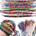 36pcs Lot Multicolor Beads Braid Handmade Fashion Friendship Bracelets Boho Bangle Wholesale