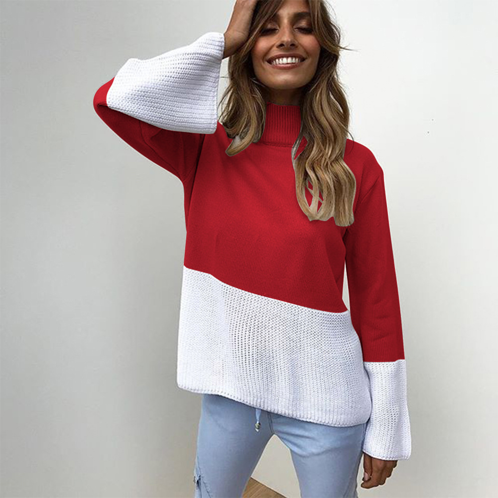 ZOGAA Winter Pull Sweaters Women 2019 Fashion Loose Jumpers High collar Pullovers Knitting Pullovers Thick Christmas Sweater Price $37.60