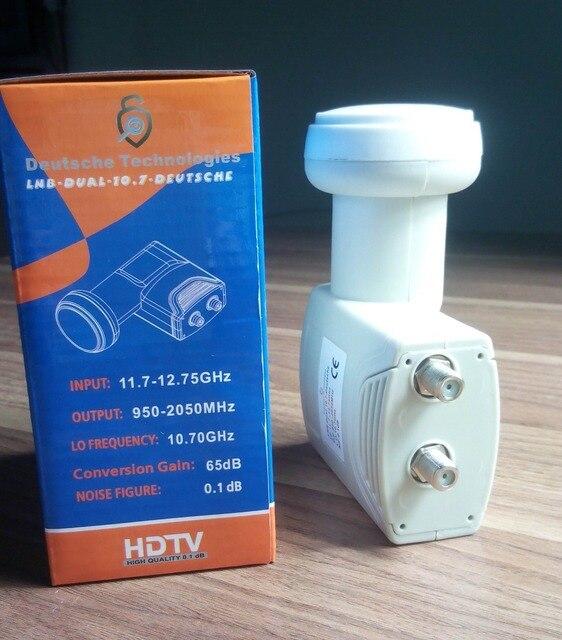 US $14 78 |Single natural frequency DUAL 10 70GHz free shipping digital HD  KU Band TWIN LNB High Gain Low noise satellite Dish LNB-in Satellite TV