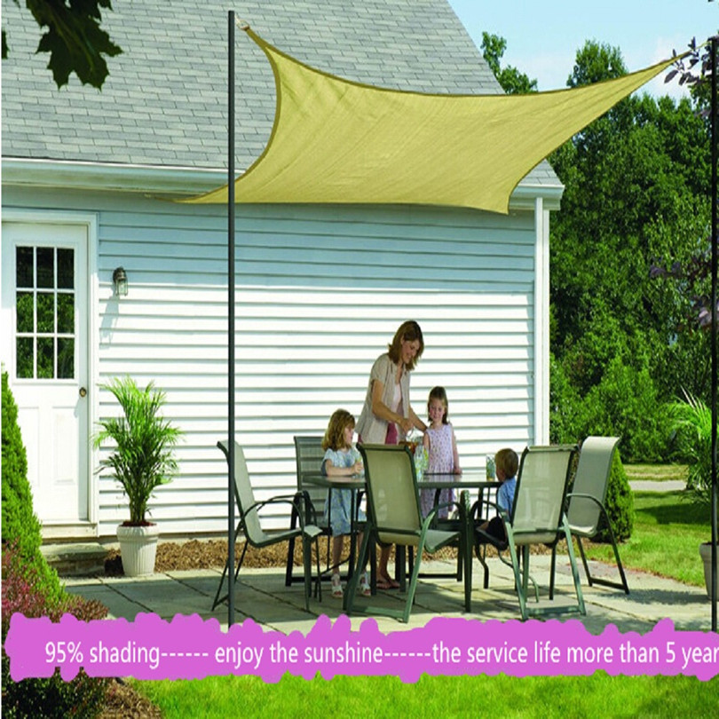 US $95.5 |sun shade sail 3.6m*3.6m awnings toldo sunshade net balcony  garden swimming pool shading cloth fabric gazebo tents cars outdoor-in  Shade ...