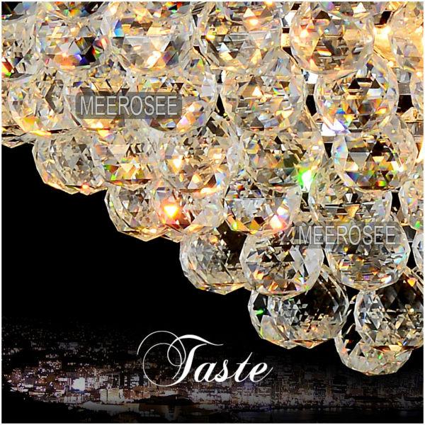 Duży hotelowy srebrny kryształowy żyrandol. Oprawa oświetleniowa - Oświetlenie wewnętrzne - Zdjęcie 5
