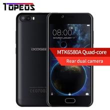 """DOOGEE TIRER 2 Android 7.0 Double Caméras Arrière Smartphone MTK6580A Quad Core 5.0 """"HD 1280*720 D'empreintes Digitales ID Mobile Téléphone"""