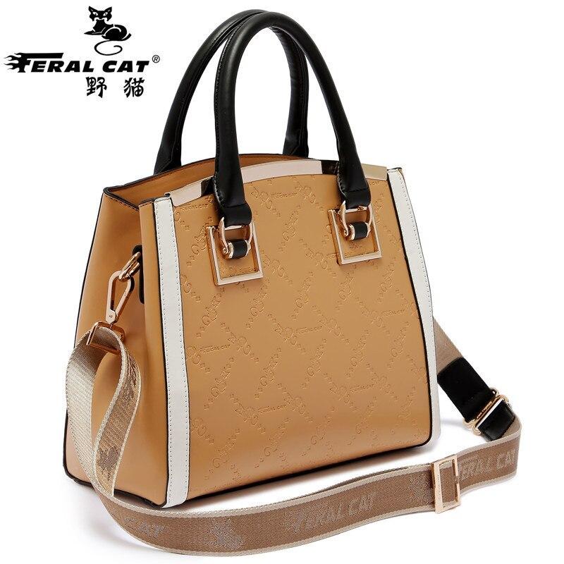 FERAL CAT New&Hot ! 2017 Fashion Casual Shoulder Bag Cross-body Bag Small Vintage Women's Handbag Pu Leather Women Messenger Bag