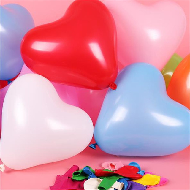 10Pc Red Pink Balloons 10Inch Love Heart Latex Balloons Wedding Helium Balloon Valentines Day Birthday Party Inflatable Balloons 5