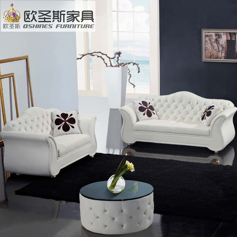 Online Shop China Factory Sale Euro Hotel Pure White Chesterfield Furniture  Living Room New Model Cowhide Pvc Leather Sofa Sets Pictures F22 |  Aliexpress ...