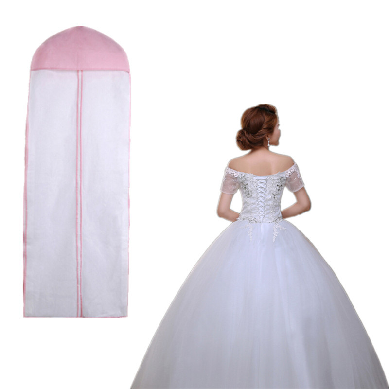 """Wedding Gown Preservation Bag: 72"""" Breathable Wedding Prom Dress Gown Garment Clothes"""