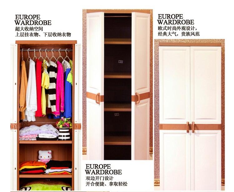 Nueva venta caliente muebles de dormitorio armario ropero DIY paño ...