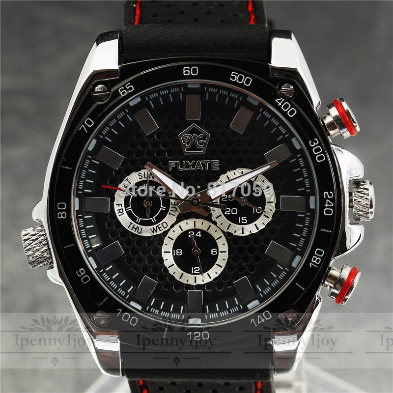 2016 New Fashion Hot SEWOR Date Rubber Strap Calendar Business Retro Men Mechanical Automatic Self-Wind Male Wrist Watch Gift new forcummins insite date unlock proramm