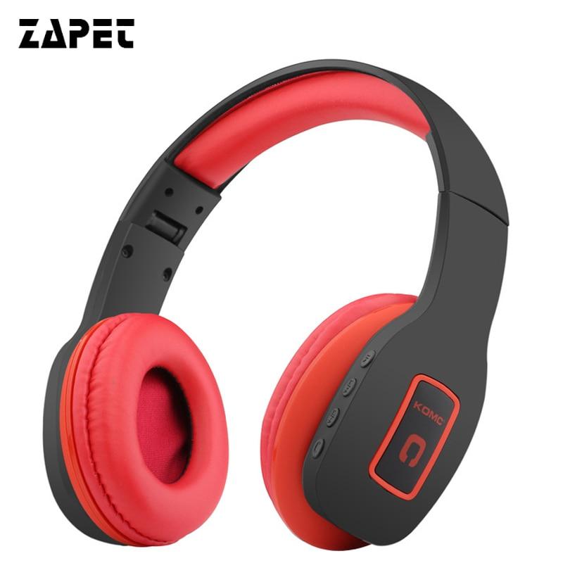 ZAPET pliable bluetooth casque BT4.1 Stéréo bluetooth casque sans fil casque pour téléphones musique écouteur écouteur