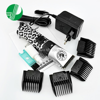 Professional Pet Hair Trimmer Dog Cats Rabbits Shaver 12W Power Grooming Electric Hair Clipper Zebra Lines Cutting Machine