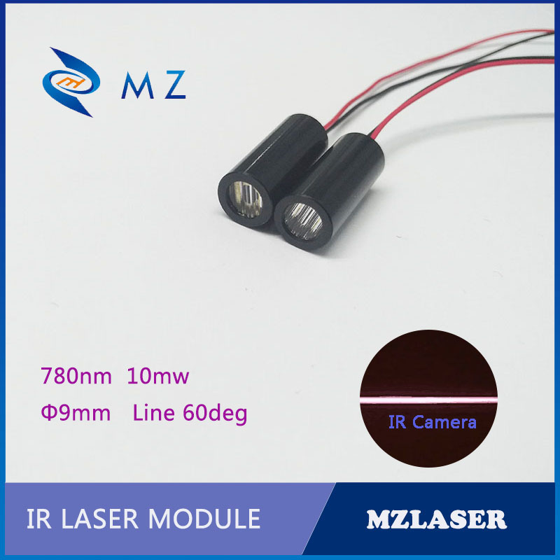 IR Line Laser Module 9mm 780nm 10mw 60 Degree Industrial Grade APC Drive Robot Sensor Laser Module