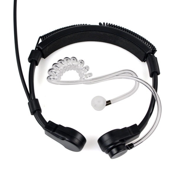 New Finger PTT Throat MIC Headphone (7)