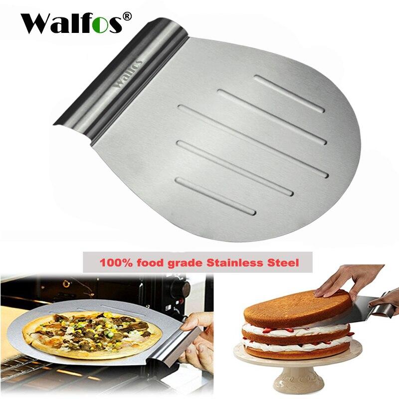 Walfos transferência de grau alimentício bolo bandeja colher placa em movimento pão pizza lâmina pá bakeware pastelaria raspador cozinha