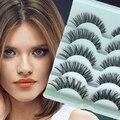 5 Pairs Потрясающий Макияж Ручной Грязный Естественно Поперечные Накладные Ресницы Ресницы