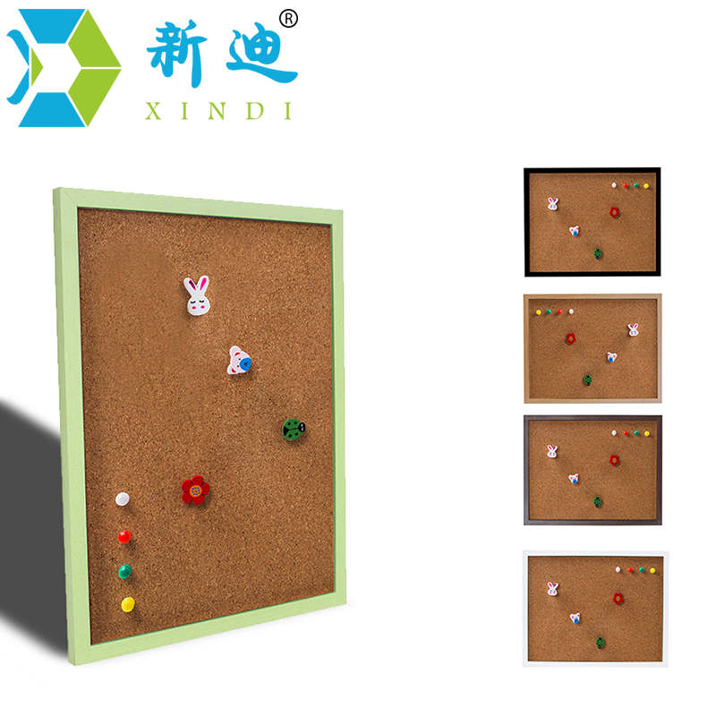 XINDI New MDF Frame Pin Board Cork 20*30cm Bulletin Cork Board 5 Colors Message Boards For Home Free Shipping foreign trade in europe and america 8 thumbtack push pin message board cork wall studs nail photo