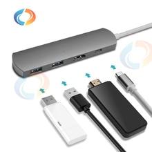 4 in 1 Type C Divider for MacBook Pro 4K HDMI Port USB 3.0 Ports Type C Hub for MacBook Pro