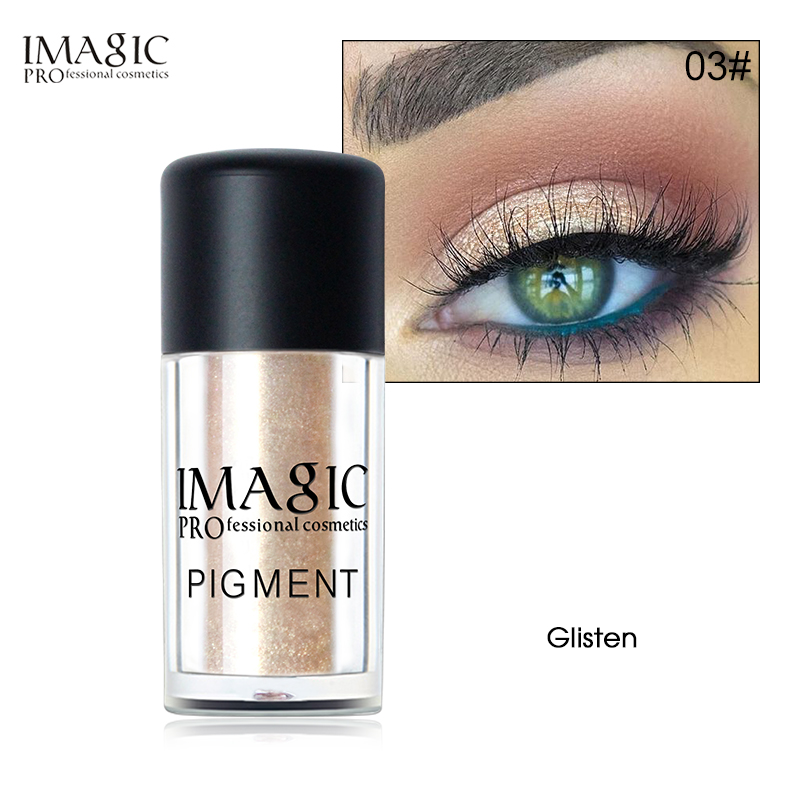 купить IMAGIC 9 Colors Glitter Eyeshadow Metallic Powder Chameleon Glitter Shimmer Pigments Colors Makeup Eye Shadow онлайн