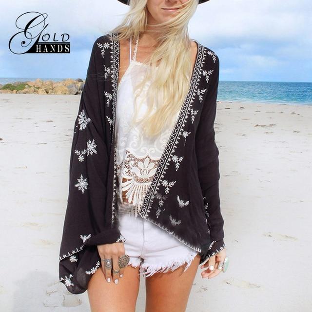 Aliexpress.com : Buy Gold Hands Kimono Women Loose Vintage Chiffon ...