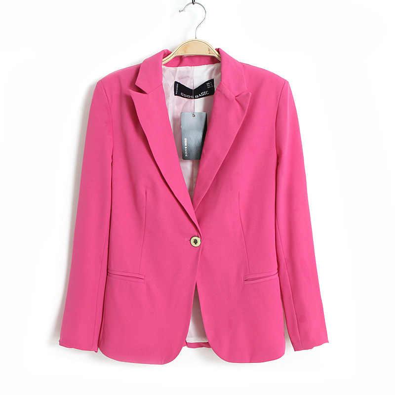 春の女性のブレザージャケット小シフォンスーツのジャケットキャンディーカラー長袖スリムスーツボタン女性の基本的なジャケット WWT10739