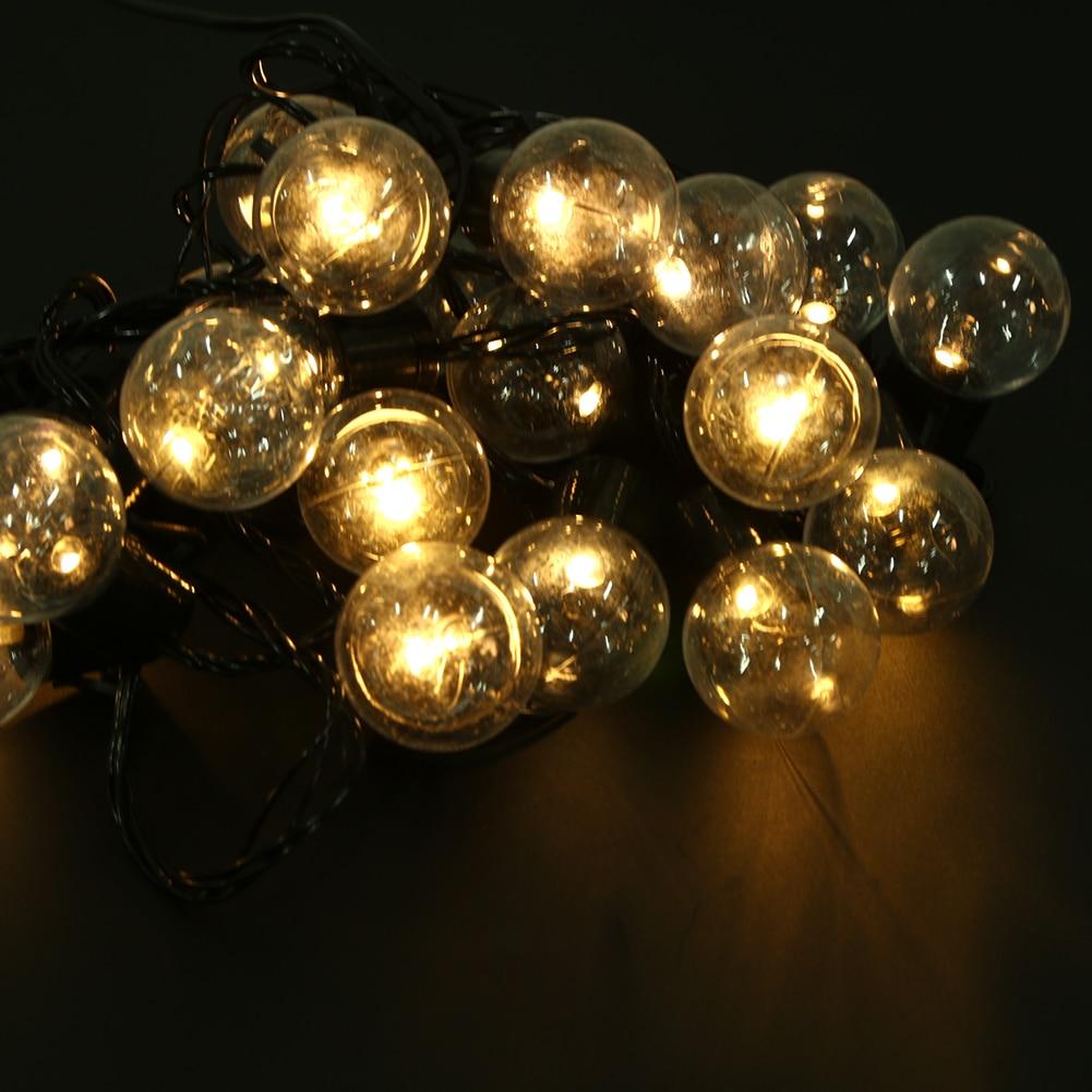220V LED EU Plug Ball Plastic Bulb Modeling Decorative Light String Holiday Outdoor For Christmas Party Wedding Decoration